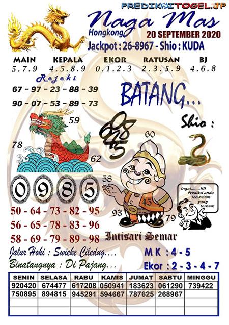 Syair SGP Nagamas Minggu 20 September 2020