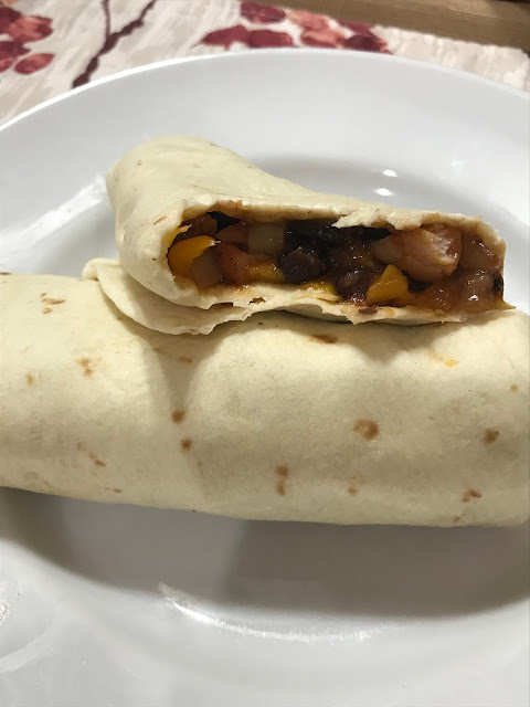 Barbecued Chicken and Black Bean Burritos