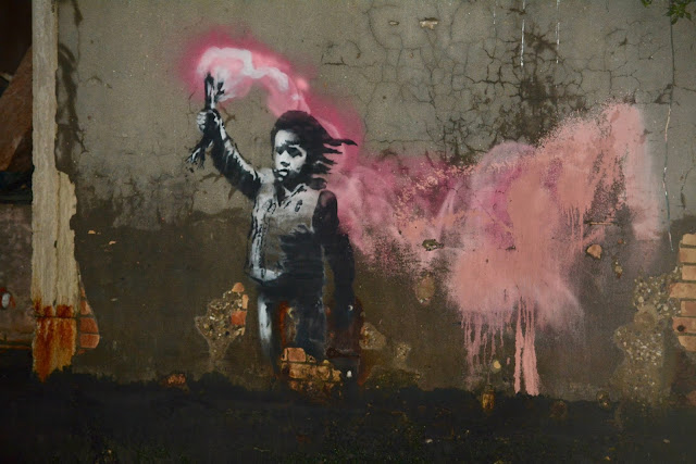 Banksy Migrant Child November 16, 2019 Photo by Ed Bulloch for Venetian Cat Bauer Venice Blog