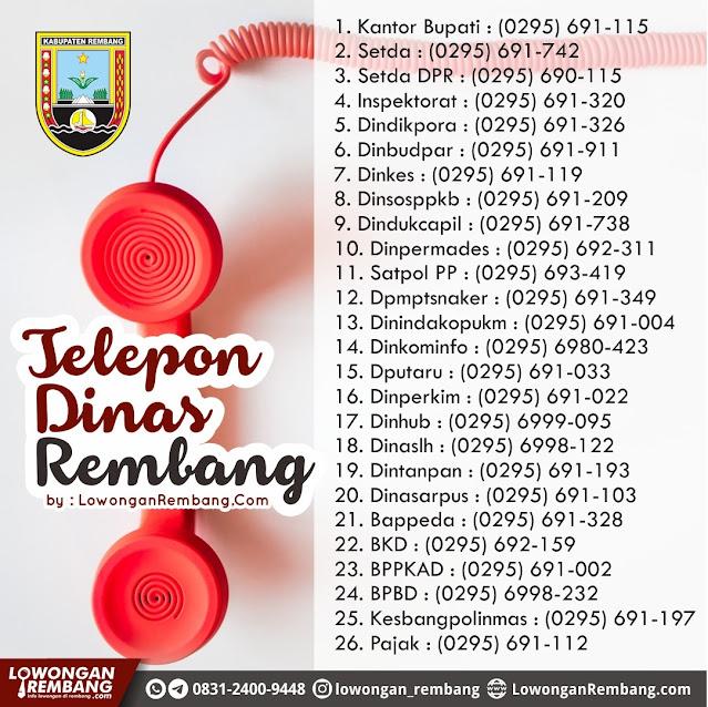 Baca Dan Simpan Daftar Nomor Telepon Kantor Dinas di Kabupaten Rembang