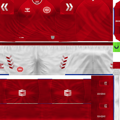 PES 6 Kits Denmark National Team World Cup 2018 by Dibu Edition
