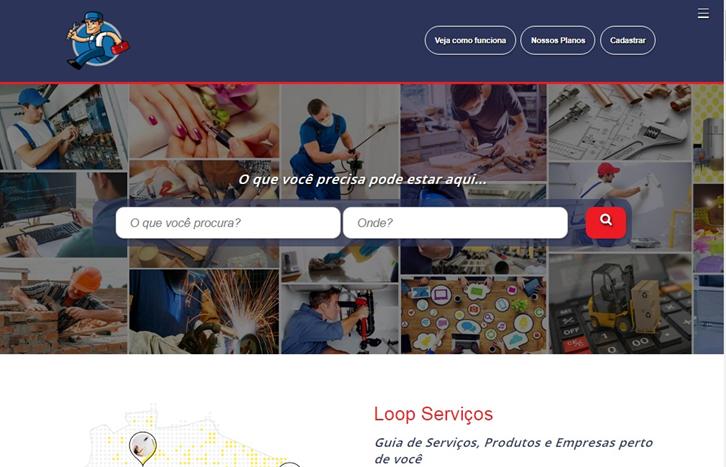 Layout Guia de Serviços, Produtos e Empresas para Blogger
