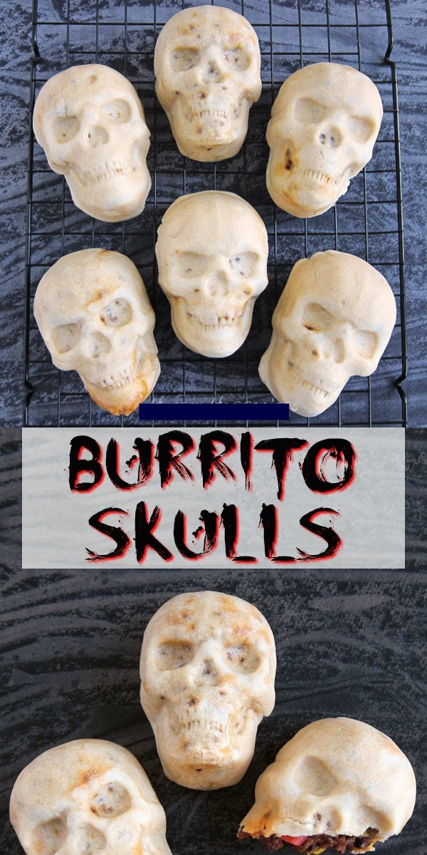 Burrito Skulls #halloweenrecipes