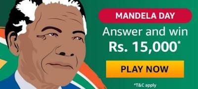 Amazon Mandela Quiz Answers