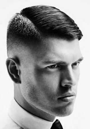 gaya rambut classic undercut tampak belakang