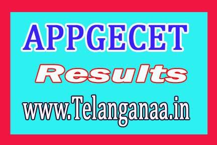 Andhra Pradesh PGECET Results AP PGECET 2018 Results
