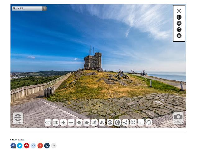 Screenshot of St John's Newfoundland virtual tour