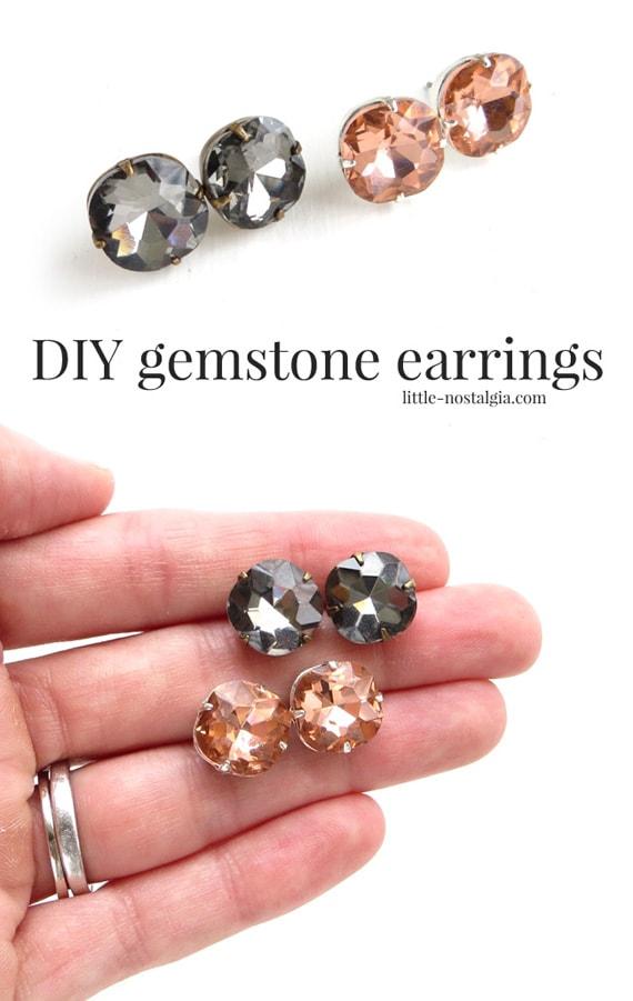 DIY Gemstone Earrings from Little Nostalgia