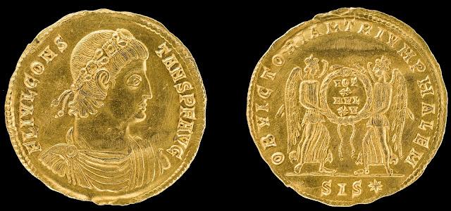 Unique Roman gold coin found in Lower Saxony