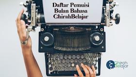 Daftar Pemuisi Bulan Bahasa GhirahBelajar