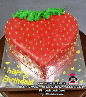 Kue Tart Strawberry 3d Buttercream