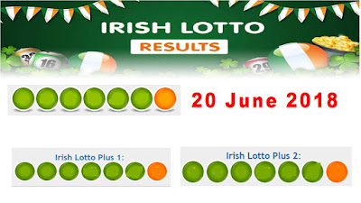 Irish Lotto Lottery Results 20 June 2018 All 3 Draws
