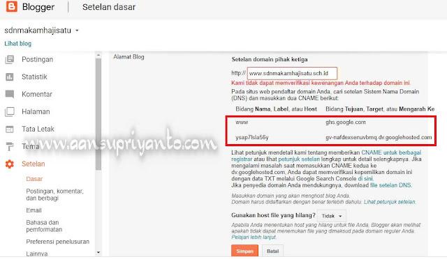 Cara Custom Domain Blog Sekolah Menjadi .sch.id