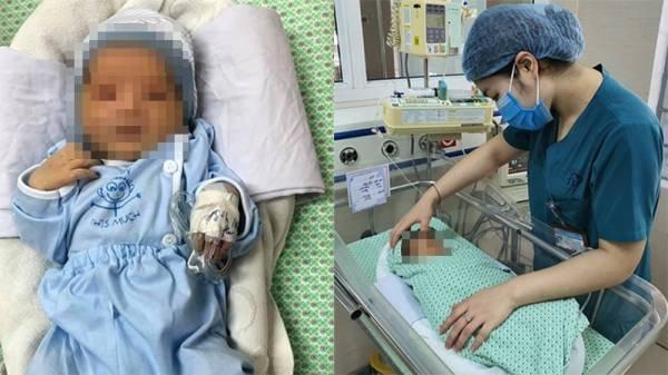 Hà Tĩnh: Bé sơ sinh bị bỏ rơi dưới hố ga 3 ngày kháng thuốc kháng sinh
