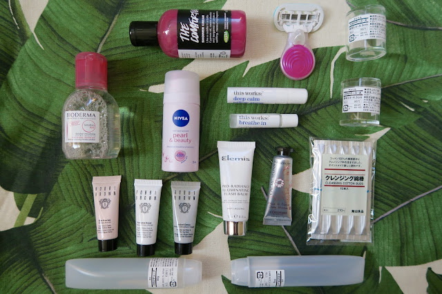 Beauty travel essentials by What Laura did Next