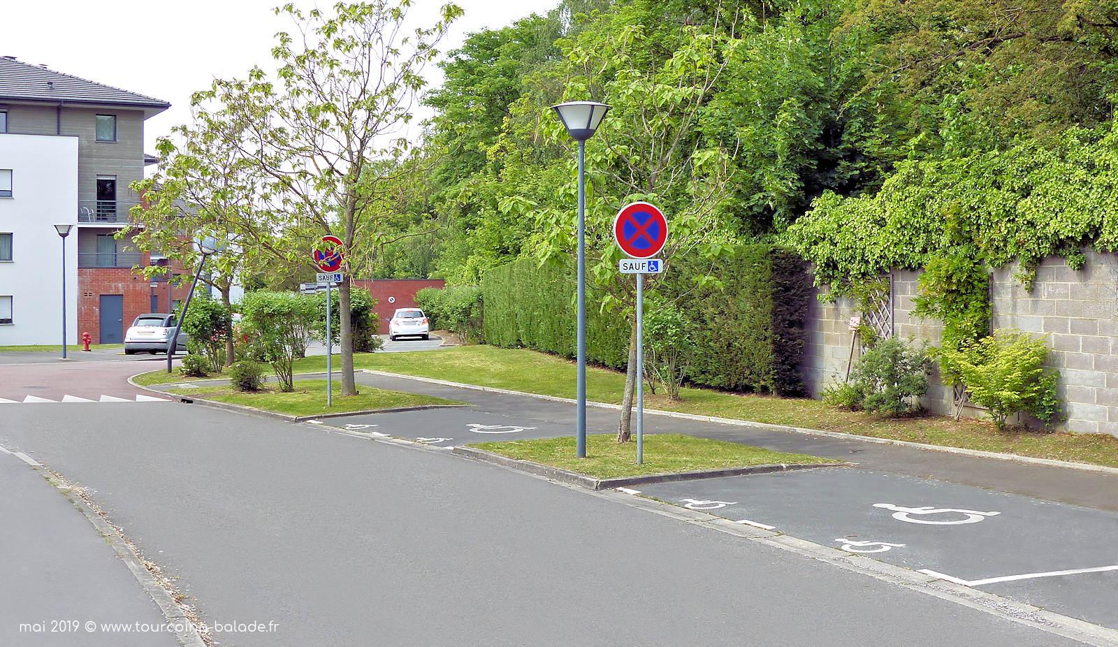 Places PMR, Allée des Confiseurs, Tourcoing 2019