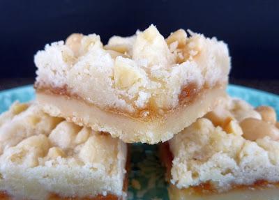 Pear Hazelnut Butter Bars