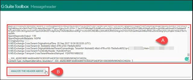 كيفية معرفة وتتبع الموقع المرسل منه البريد الإلكتروني عبر عنوان IP