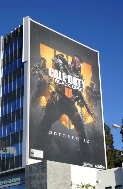 Giant Call of Duty Black Ops 4 game billboard