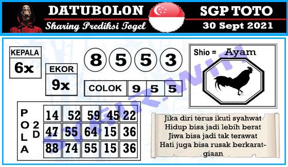 Datubolon Sgp Kamis 30 September 2021