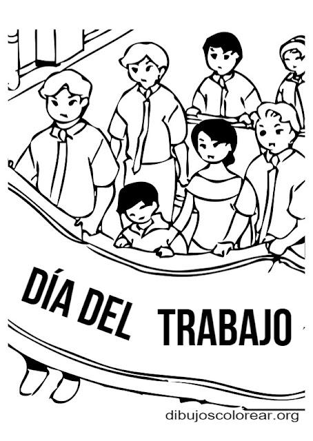 dibujos para colorear del Día del Trabajador