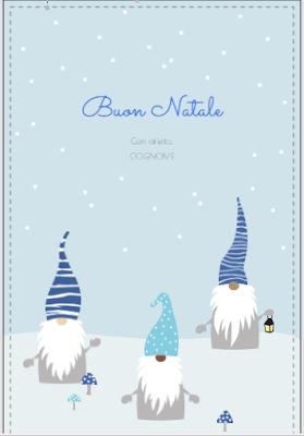 Biglietto di auguri: elfi natalizi