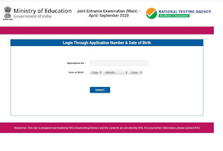JEE Main Admit Card 2020   The admit card for the Joint Entrance Examination (JEE) Main has been released.