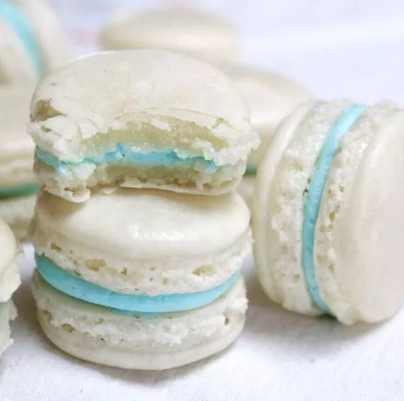 Vanilla Almond Macarons #dessert #cookies