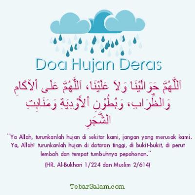 doa agar hujan berhenti bahasa arab