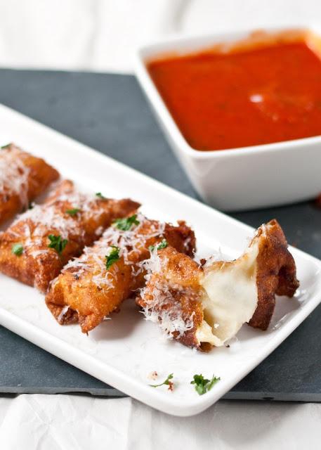 crispy wonton mozzarella sticks-tailgating food