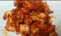 Cooked chicken slices for chicken roll fillings