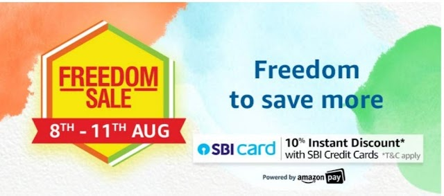 Amazon Offer: Freedom Sale Freedom To Save Money Offer