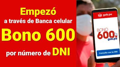 Cobrar el Bono 600 a través de Banca celular del Banco de la Nación MARZO y ABRIL