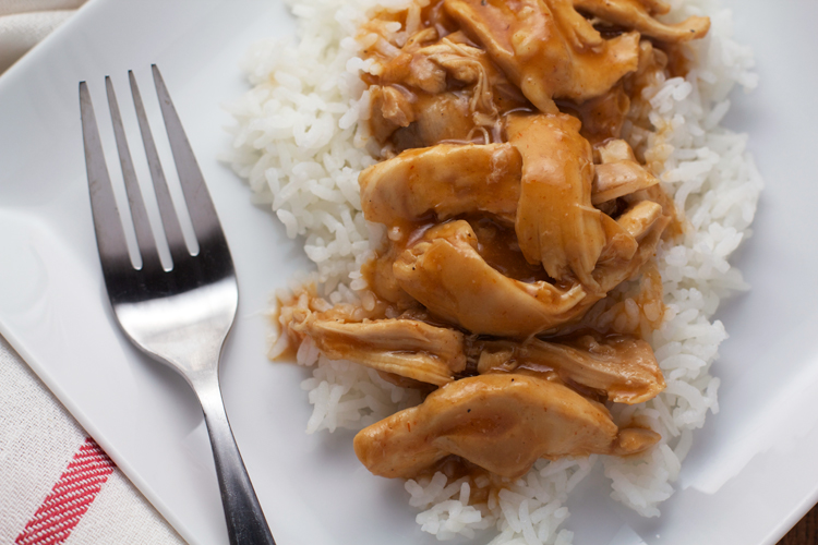 The Easiest (Seriously!) Slow Cooker BBQ Shredded Chicken || A Less Processed Life