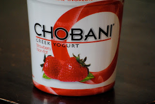 Chobani strawberry yogurt