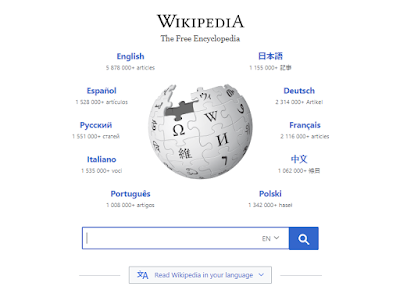 wikipedia homepage