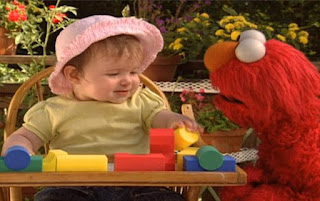 Elmo wants to ask a baby how it builds a tower. Sesame Street Elmo's World Building Things Kids And Baby
