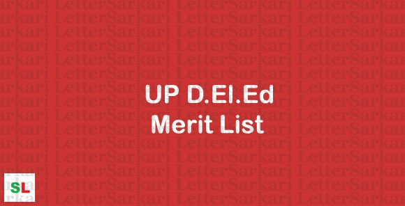 UP D.El.Ed Merit List 2019