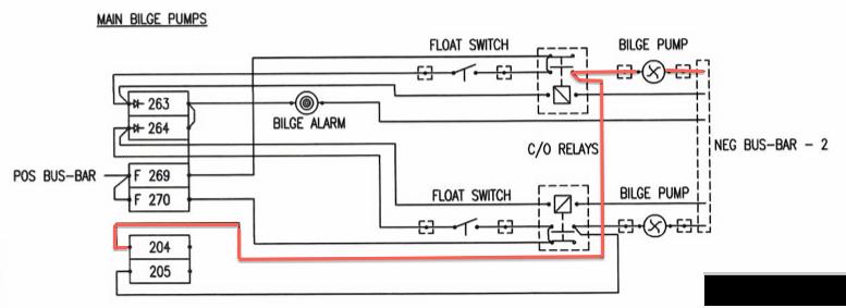 S/V LUX: L40 Bilge Pump Wiring And Indicator Enhancement