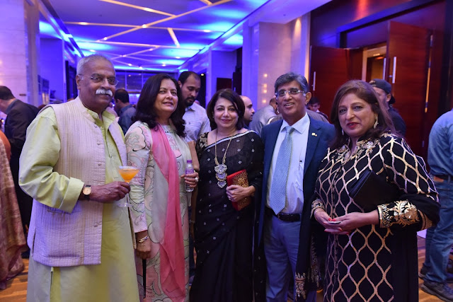 Mrs. Ratna Chadha with guests at Cruise to Comedy (2