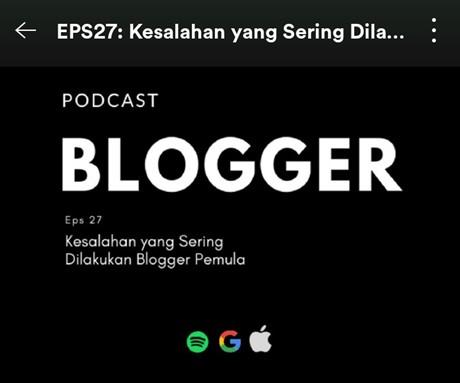 Alasan punya podcast