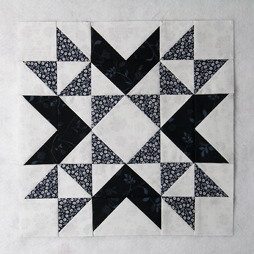Wyoming Valley Quilt Block designed by Elaine Huff of Fabric406