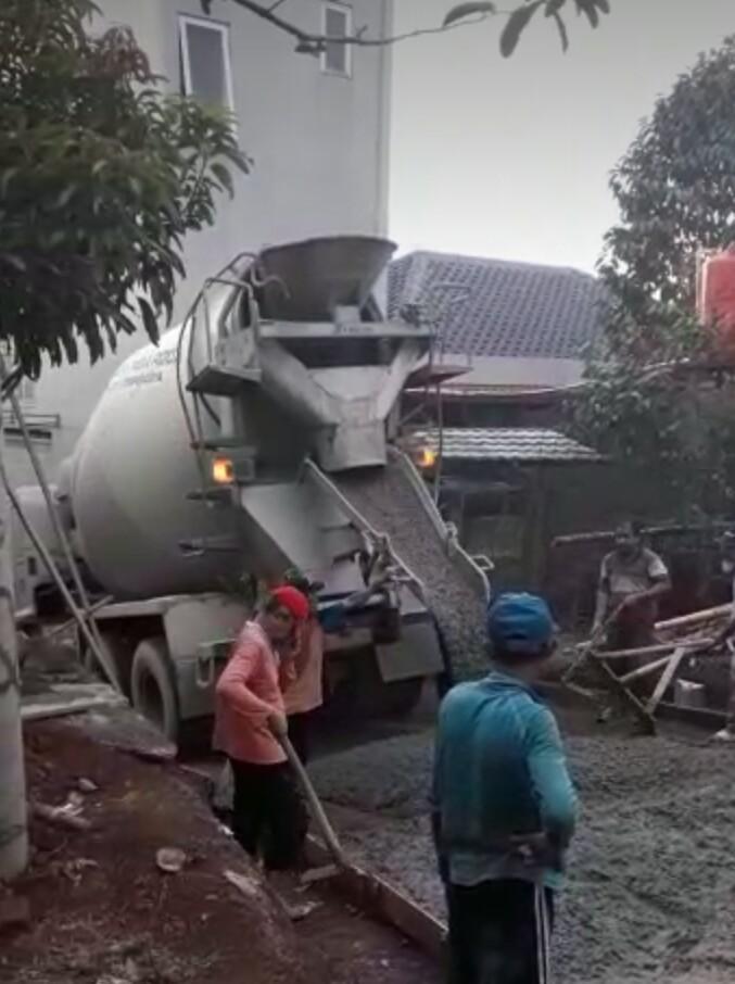 harga beton cor untuk di jalan pake k 200 atau k250 tergantung permintaan kepala lurahnya