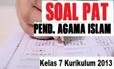 Download Soal PAT PAI Kelas 7 SMP/MTs