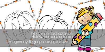 Dibujos de calabazas de halloween para colorear