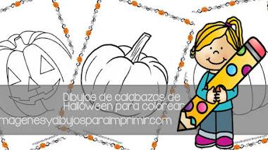 Dibujos de calabazas 🎃 de halloween para colorear