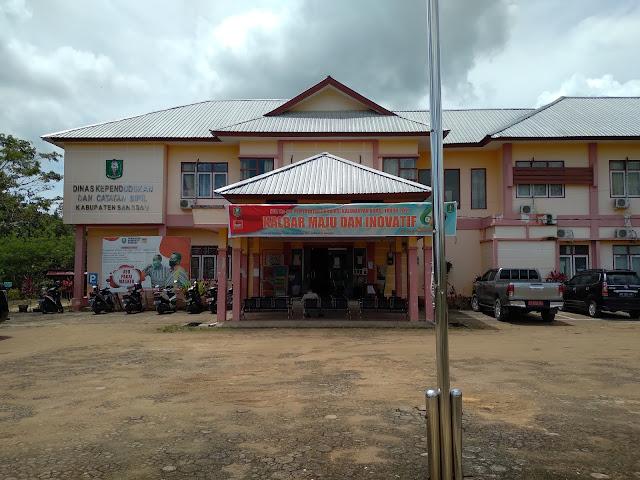 Alamat Kantor Dukcapil Sanggau, sepi dan yang ada hanya pengunjung dari staf desa