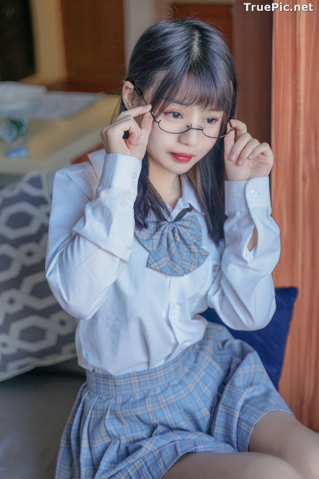 Image [MTCos] 喵糖映画 Vol.047 – Chinese Cute Model – Sexy Student Uniform - TruePic.net - Picture-16