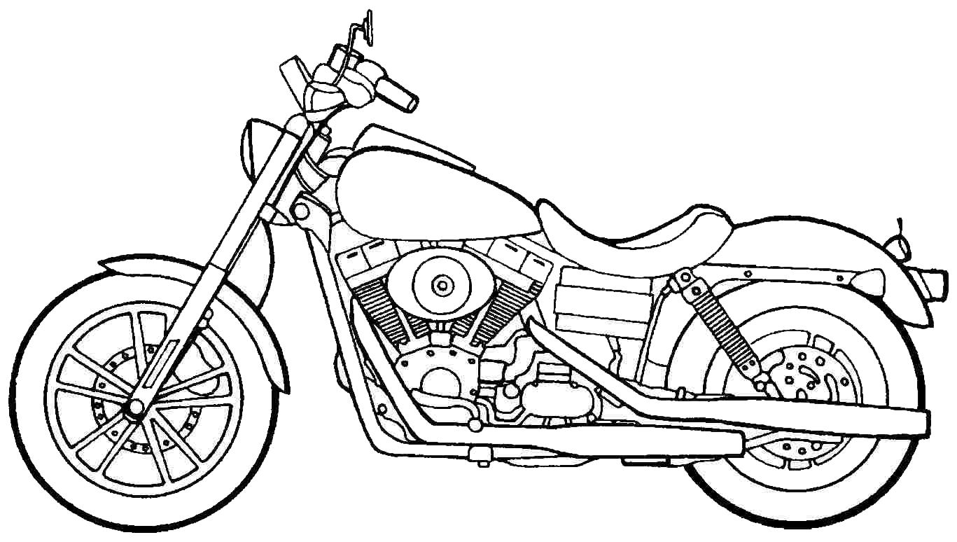 gambar mewarnai sepeda motor 2