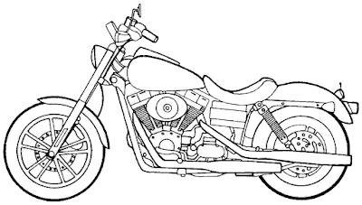 Gambar mewarnai sepeda motor - 2